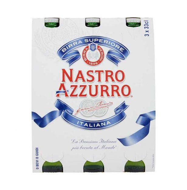 "Бира"" Настро  Адзуро"" 3х330 мл. PERONI"