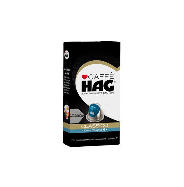 HAG безкофеин класико 10 капсули  Nespresso.