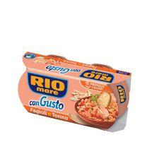 RIO MARE con Gusto Фасул и Риба Тон 2x160 гр.