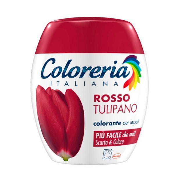 Оцветител за дрехи - Червено 350гр. COLORERIA