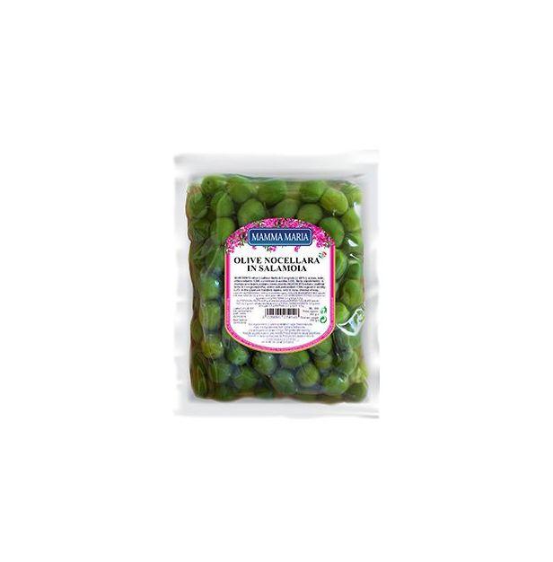 Зелени маслини НОЧЕЛАРА 500гр MAMMA MARIA