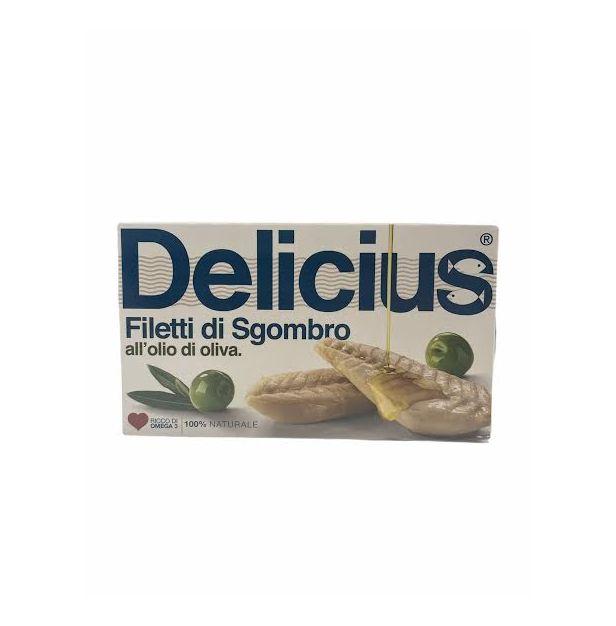 Филе от Скумрия в зехтин 125 гр. DELICIUS