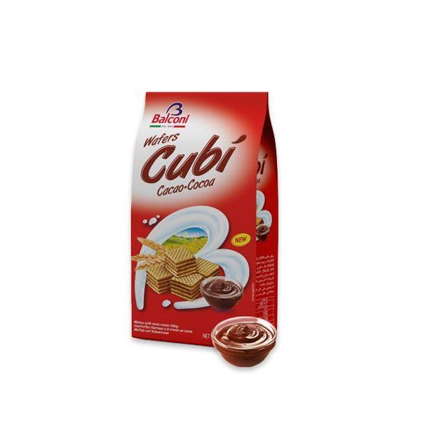 Вафлени кубчета с какао 250 гр. BALCONI