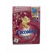 Ароматизирани сашета за гардероб Coccolino Fiori Di Tiare e Frutti Rossi, 3 броя